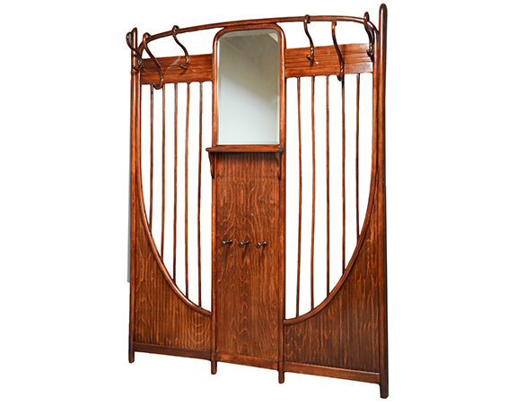 garderobe jugendstil und art deco m bel galerie holzer. Black Bedroom Furniture Sets. Home Design Ideas